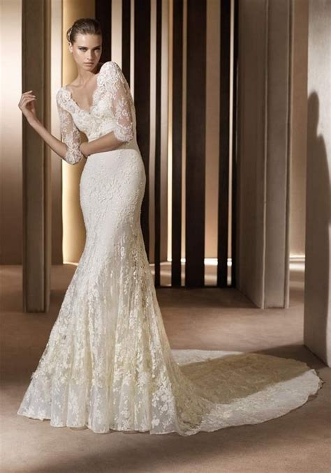 20 most stunning long sleeve wedding dresses chic