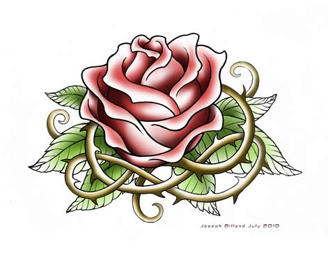 roses on a vine tattoo designs roses designs