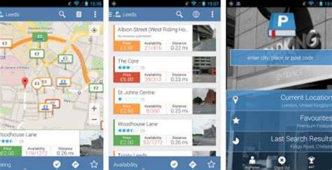 parking garage near my location android apps locate parked car parking garages near me