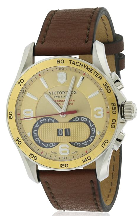 Swiss Army Date Leather 2 swiss army victorinox chronograph leather mens 241617