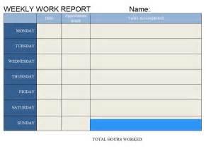 It Weekly Report Template Weekly Work Report Word Template Template Sample