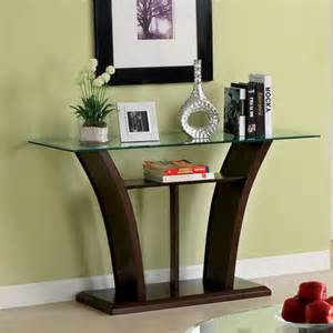janna open shelf contemporary glass top sofa table buy now