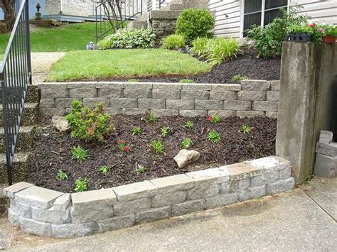 Ideas For Retaining Walls Garden Miscellaneous Retaining Wall Blocks Landscaping Ideas Retaining Wall Blocks How To Retaining
