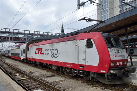 Lu Cfl cfl 4012 stands in luxembourg gare on 9 june 2015 rail