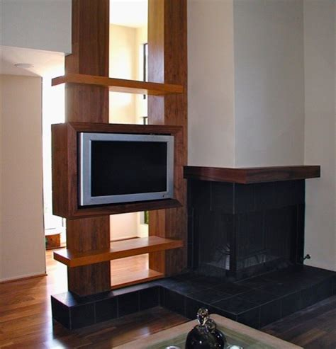 Tv Room Divider How To Hide A Tv Modern Living Room Los Angeles By Susan Design