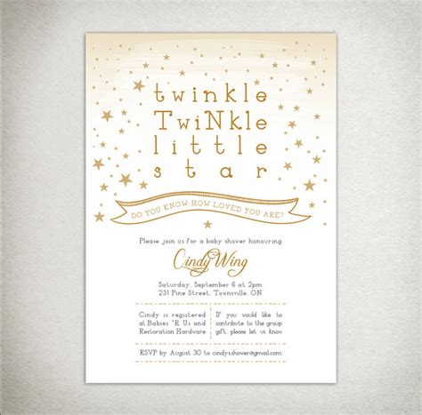Twinkle Baby Shower Invitations by Baby Shower Printable Twinkle Twinkle Invitation