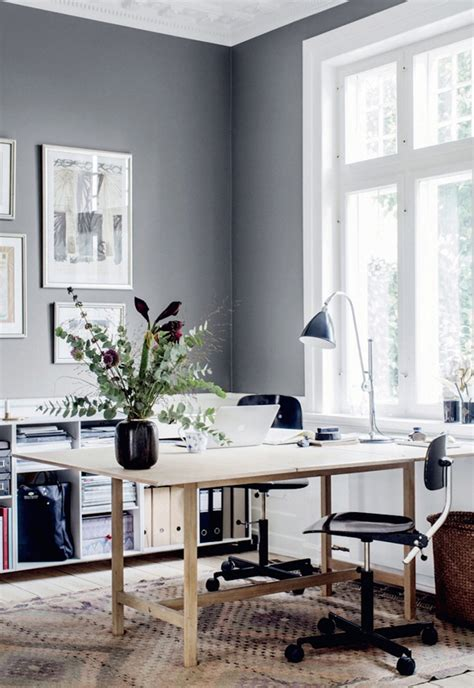 which of these is a home office home tour a danish cottage in calming greys these four