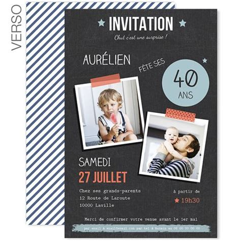 25 best ideas about invitation anniversaire 40 ans on