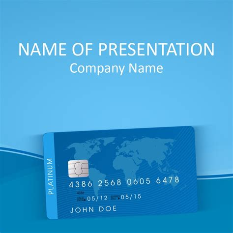 Credit Card Powerpoint Template Finance Powerpoint Card Powerpoint Template