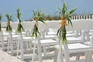 Beach wedding aisle chair decoration beach by beachywreaths