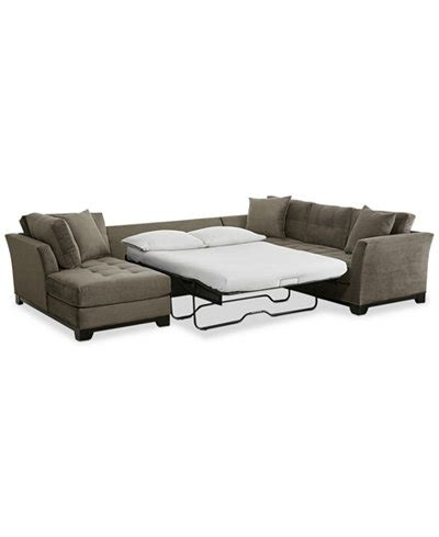 Elliot 3 Pc Microfiber Sectional With Full Sleeper Sofa Sofa Sleeper Sectional Microfiber