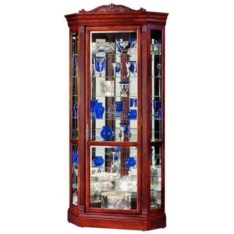 howard miller embassy ii corner display curio cabinet 680290