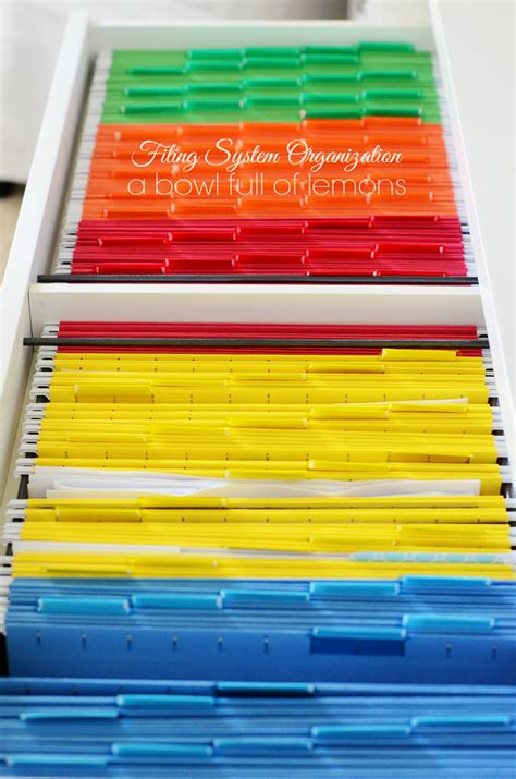 how to organize a file cabinet system filing system organization a bowl of lemons