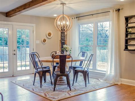 fixer uppers new fixer upper dining room images light of dining room