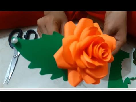 How To Make Artificial Flowers With Paper - how to make artificial flower
