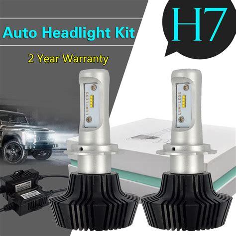 Lu Led Philip Motor fanless g7 led headlight conversion kit 6500k philips lumileds for h4 h7 hb4 ebay
