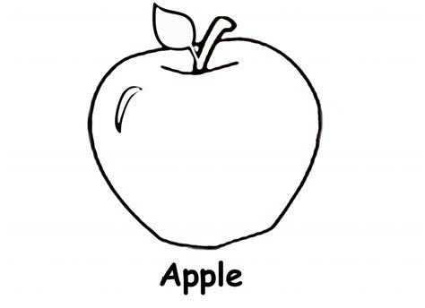 coloring book apple free printable apple coloring pages for