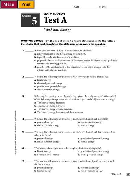 holt physics section review worksheets holt physics section review worksheet answers geersc