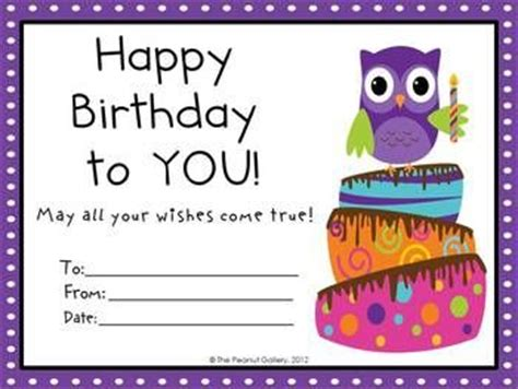 printable birthday certificate templates birthday certificate owl themes and owl on
