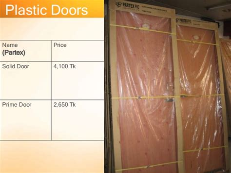 Partex Door Price In Bangladesh Presentation On Door And Window