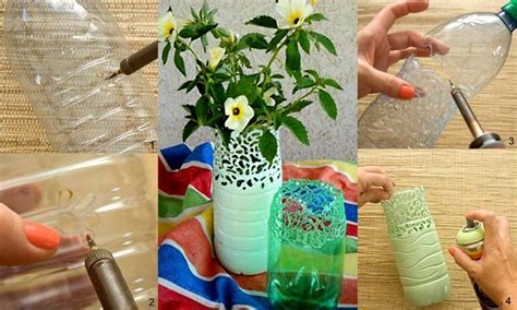 Diy Plastic Bottle Vase by Diy Pretty Plastic Bottle Vase Fabdiy