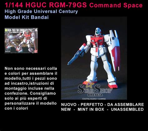 Bandai Hg Rgm 79gs Gm Command Space gundam 1 144 rgm 79gs gm command space type model kit