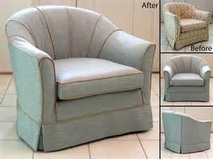 Simple Barrel Chair Slipcovers   HomesFeed
