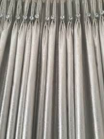 French Home Interiors french pleat curtain detail with crystal buttons