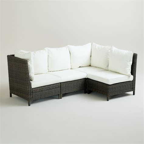 Outdoor Sectional Sofa Solano Outdoor Sectional Contemporary Outdoor Sofas By Cost Plus World Market