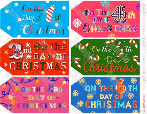 12 days of christmas gift tags 12 days of gift tags