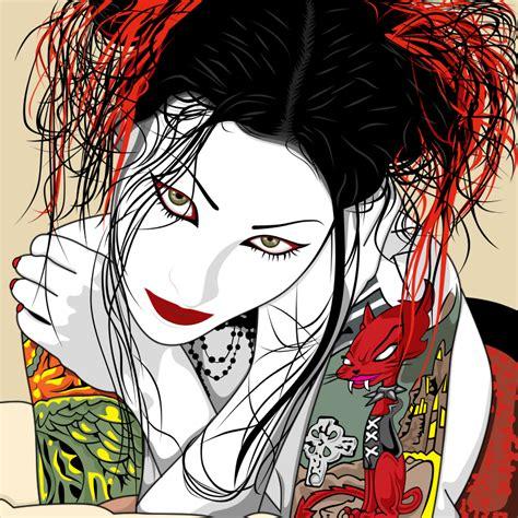 yakuza tattoo vektor red cat tattoo by krotalos on deviantart