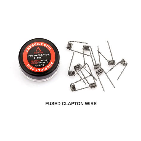 Prebuilt Clapton Wire Coil 0 2 Ohm rofvape fused clapton prebuilt wire 0 45ohm 28ga 2 32ga 10pcs