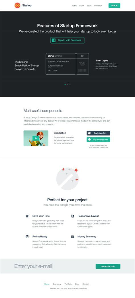 templates bootstrap startup start bootstrap startup framework templates by designmodo