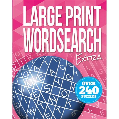 large print puzzle book word search books bm