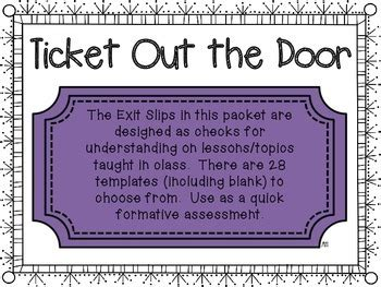 ticket out the door template blank ticket out the door template printable exit ticket