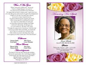 Free Obituary Program Template by Funeral Program Template Http Webdesign14