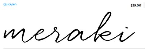 tattoo font quickpen quot meraki quot in quickpen font tattoos i like