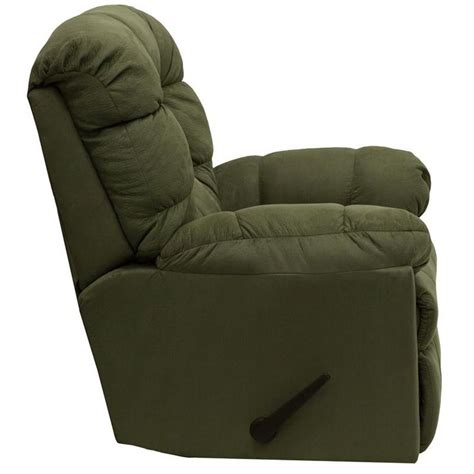 microfiber rocking recliner microfiber contemporary styling rocker recliner green