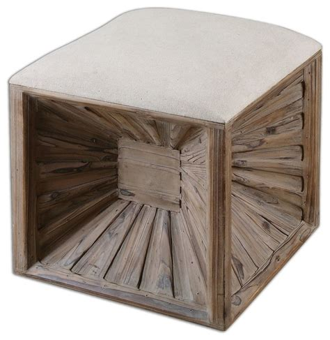 rustic ottomans uttermost jia wooden ottoman rustic footstools and
