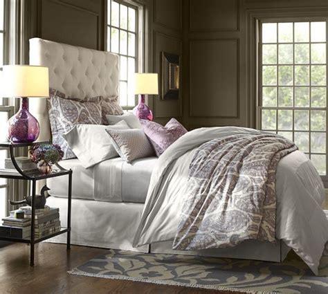 lorraine tufted bed headboard pottery barn bedrooms