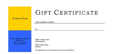 free gift certificate templates microsoft word templates