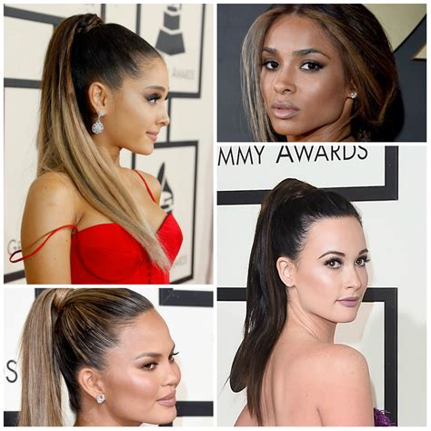 black hairstyles for 2016 ponytail trendy ponytail hairstyles at grammy awards 2016