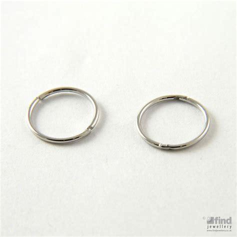 White Gold Sleeper Earrings by Bee Jewellery