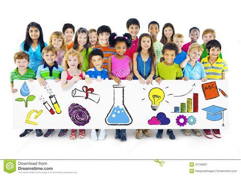 education kids of children holding education concept billboard
