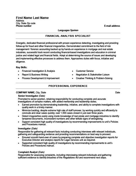 fraud detection investigator resume template premium resume sles exle