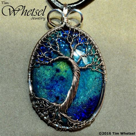 wrap jewelry sterling silver wire wrap tree of pendant