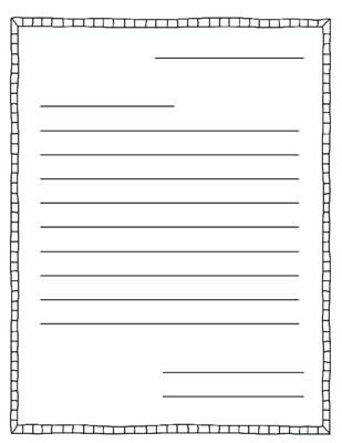 Printable Letter Writing Paper For First Grade Printable Pages Letter To Template Ks2
