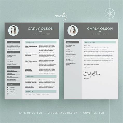 Cover Letter Template Photoshop 17 Best Ideas About Standard Cv Format On Cv