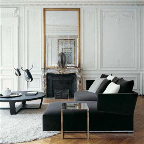 black living room mirror black and white home decorating ideas 15 black and white