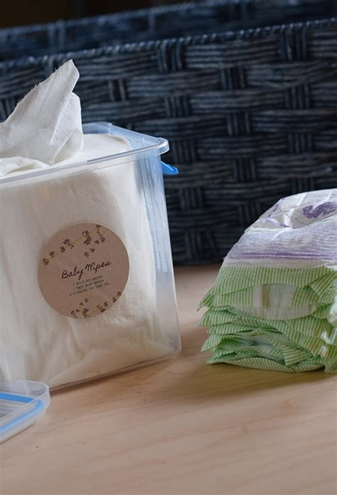 Handmade Baby Wipes - diy changing table and baby wipes